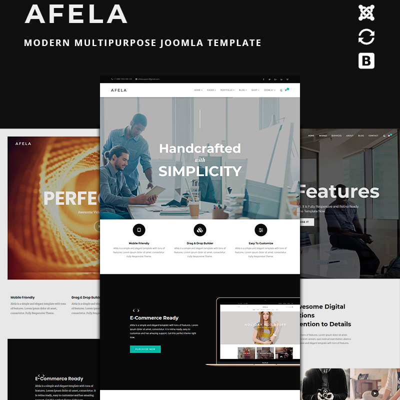 Afela | Flexible MultiPurpose Business  With Page Builder | Joomla Template