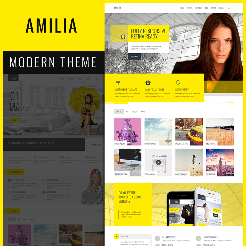 Amilia - Responsive MultiPurpose Corporate Joomla Template