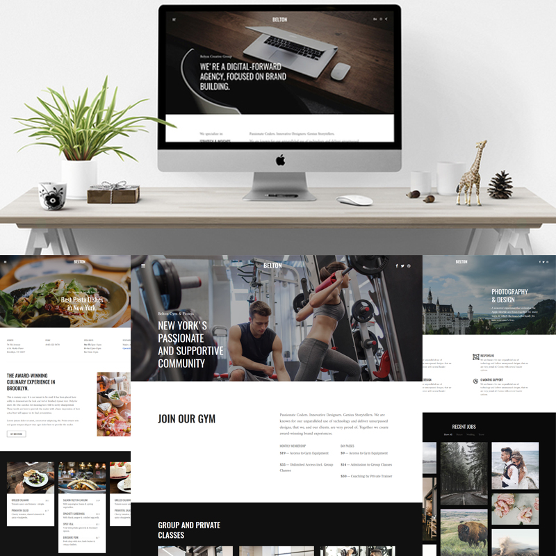 Belton - Minimal Black and White Multipurpose Joomla Template