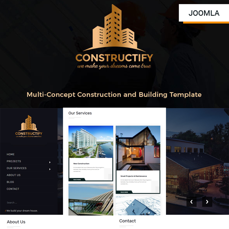 Constructify- Multipurpose Construction and Building | Business Joomla Template