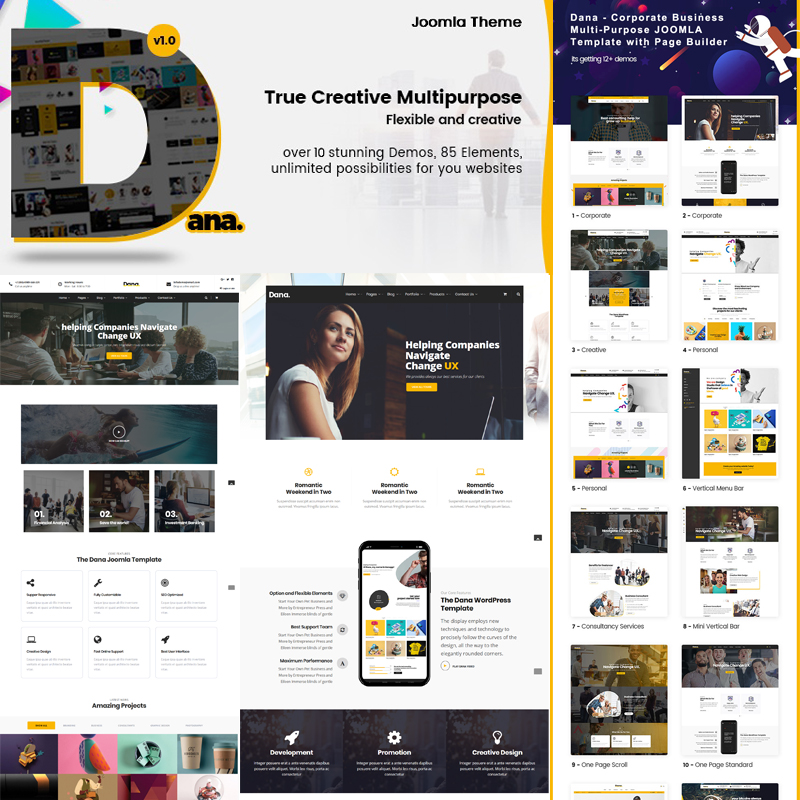 Dana - Corporate Business MultiPurpose Joomla Template