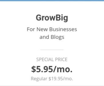 SiteGround Joomla GrowBig package