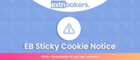 EB Sticky Cookie Notice - Best Joomla GDPR Extension in 2021