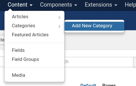 Joomla Content - Add New Category