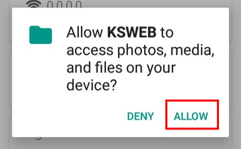 Allow KickWebServer to Access Phone