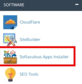 cPanel - Softwares: Softaculous Apps Installer