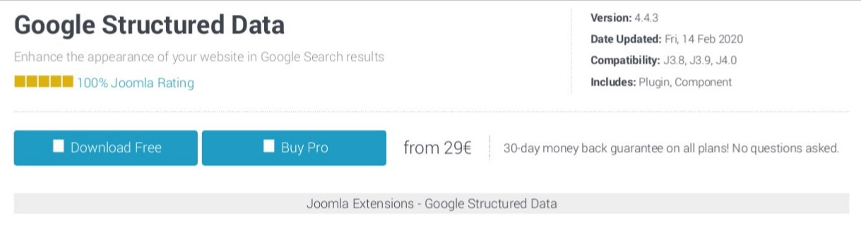 Google Structured Data - Best Joomla SEO Extension and Tool in 2021