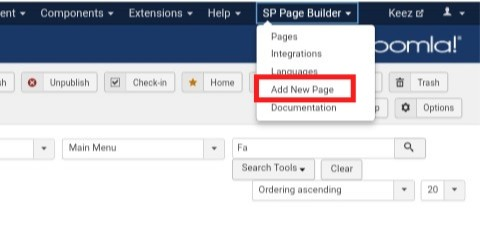 SP Page Builder - Add New Page